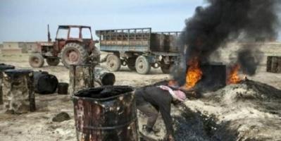 تكرير النفط بدائياً في ادلب بعد رحلة طويلة من الشرق السوري