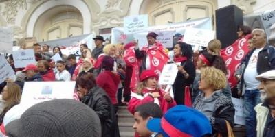 """#مسيرات شعبية في تونس لإسقاط """"الاستعمار الإخواني"""" في ذكرى# الاستقلال"""