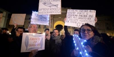 إيطاليا ... عشرات الآلاف يتظاهرون ضد حزب الرابطة اليميني المتطرّف