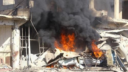 سوريا ... مقتل عشرة مدنيين بقصف جوي لقوات النظام في إدلب