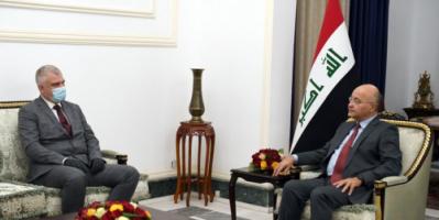الرئيس العراقي والسفير الروسي يبحثان تخفيف التوتر في المنطقة