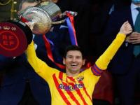 أول تعليق لميسي بعد تتويج برشلونة بكأس إسبانيا