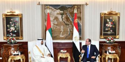 الرئيس السيسي لابن زايد: موقفنا من أمن الخليج ثابت
