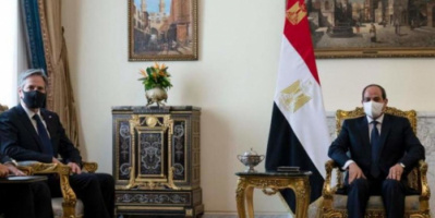 وزير الخارجية الأميركي: نعمل مع مصر لتحقيق السلام بين الفلسطينيين وإسرائيل