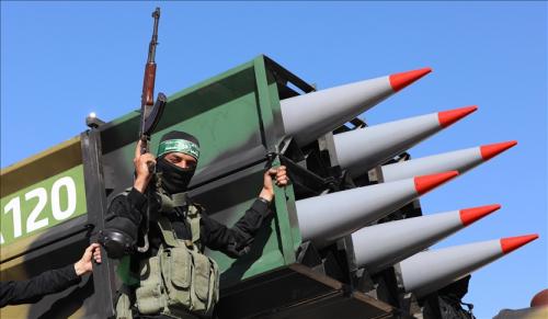 """غزة.. عرض عسكري لـ """"القسام"""" احتفالًا بـ""""الانتصار"""" على إسرائيل"""