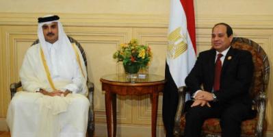الرئاسة المصرية: السيسي وأمير قطر اتفقا على أهمية العمل على استئناف التعاون