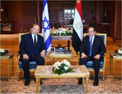 الرئاسة المصرية تعلن تفاصيل لقاء السيسي اليوم مع رئيس وزراء إسرائيل