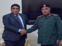"""المنفي يلتقي القائد العام المؤقت """"للجيش الليبي"""""""
